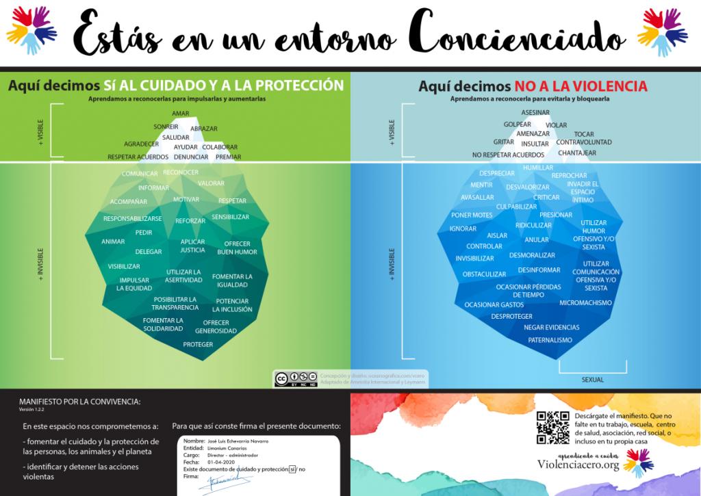 Violencia cero - Limonium Canarias